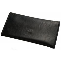 GERMANUS Tobacco Pouch - Leather Free, vegan, vegetarian - Made in EU - Noctus black