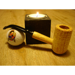 Original Missouri Quality Corncob Pipe - Shape: Apple, Bent 2