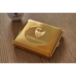Cigarette Case with Genuine Gold - Made in Germany - GERMANUS Gold Plated