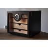 GERMANUS Cigar Humidor Cabinet: Cube basic, Black