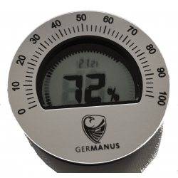 GERMANUS Kalibrierbarer Digital Humidor Hygrometer - Rund Germanus