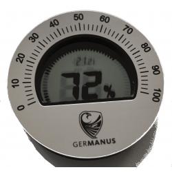 GERMANUS Kalibrierbarer Digital Humidor Hygrometer - Rund Germanus