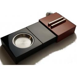 GERMANUS Zigarren Humidor Set mit Aschenbecher und Zigarrenablage