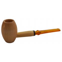 Original Missouri Qualitäts Corncob Holz Pfeife - Shape: Egg, Gerade