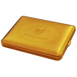 GERMANUS Cigarette Case with Genuine Gold - 100mm - Made in Germany - Design GERMANUS Engraving
