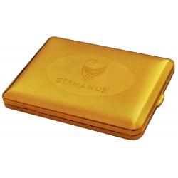 GERMANUS Zigaretten Etui - Echt Gold - 100 mm - Made in Germany - Design GERMANUS Gravur