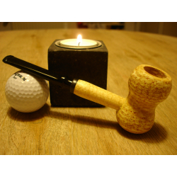 Original Missouri Quality Corncob Pipe - Curl, Straight