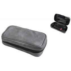 Lederfreie Pfeifentasche für 2 Pfeifen in Grau bzw. Schwarz  - Pfeifenbeutel