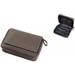 Pfeifentasche aus Leder für 4 Pfeifen in Braun Pfeifenbeutel 402