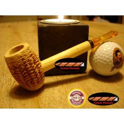 Original Missouri Qualitäts Corncob Pfeife - Shape: Feather Standard, Billiard