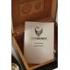 GERMANUS Cigar Humidor Set in Black with Digital Hygrometer for ca 50 cigars in Black