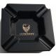 GERMANUS Zigarrenascher aus Porzellan - Schwarz Gold
