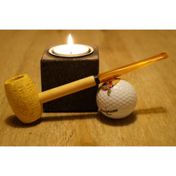 Original Missouri Qualitäts Corncob Pfeife - Shape: Long Feather Glatt, Billiard