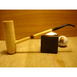 Original Missouri Quality Corncob Pipe - Shape: Mac Arthur Bent Smooth