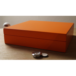 Beginner's Cigar Humidor in Orange Finish
