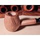 Custom modified Corncob Wood Pipe - Shape: Apple, Bent