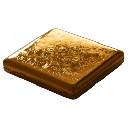 Cigarette Case with Genuine Gold - Made in Germany - Design V - GERMANUS Venetian Engraving