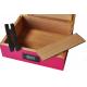 GERMANUS Pink Cigar Humidor with Digital Hygrometer for ca 50 cigars