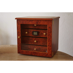GERMANUS ® Cigar Humidor Cabinet with GERMANUS Humidifier for ca 200 cigars