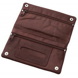Unique LEATHER Tobacco Pouch - Model Leather 5 in Brown