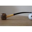 Original Missouri Qualitäts Corncob Pfeife - Shape: Cobbit Dwarf, Bent