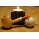 Original Missouri Qualitäts Corncob Holz Pfeife - Shape: Apple, Gerade