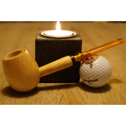 Original Missouri Quality Corncob Wood Pipe - Shape: Apple, Straight