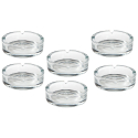 6 x Aschenbecher Glas für Zigaretten - Modell Classic 3