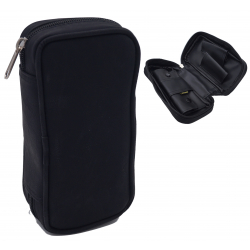 Pfeifentasche aus Leder für 2 Pfeifen in Schwarz und Braun  - Pfeifenbeutel