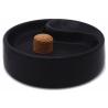 Pipe Ashtray - black, matte - z