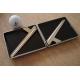 GERMANUS Zigarettenetui - Metall mit Leder Bezug - Made in Germany  - Design Leder 2