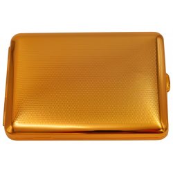 GERMANUS Cigarette Case with Genuine Gold - 100mm - Made in Germany - Design Point Raster