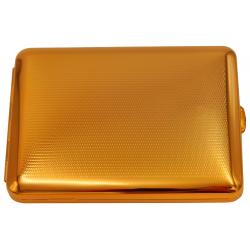 GERMANUS Zigaretten Etui - Echt Gold - 100 mm - Made in Germany - Design Punkt Raster