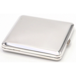 GERMANUS Cigarette Case with Genuine Silver - Made in Germany - Design Plain