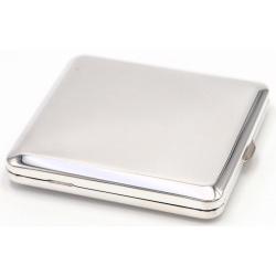 GERMANUS Zigaretten Etui - Echt Silber - Made in Germany - Design Plain
