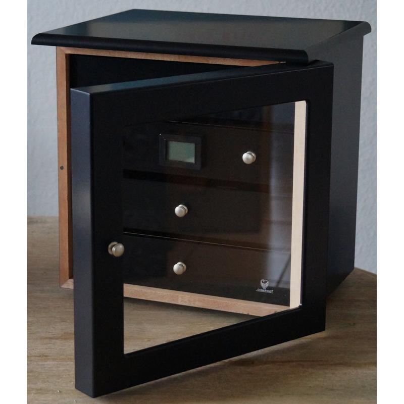 germanus zigarren schrank radix humidor f r 200 zigarren schwarz. Black Bedroom Furniture Sets. Home Design Ideas