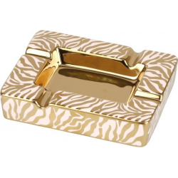 ANGELO Porcelain Cigar Ashtray - Zebra, Gold