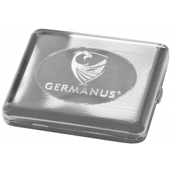 GERMANUS Cigarette Case with Genuine Silver - Made in Germany - Design GERMANUS