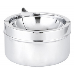 Ashtray with Foldable Tray in chrome
