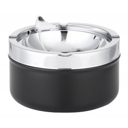 Ashtray with Foldable Tray in Black