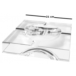 GERMANUS Solid Crystal Glass Cigar Ashtray