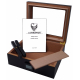 "GERMANUS ""Desk"" Pink Cigar Humidor with Digital Hygrometer for ca 50 cigars"