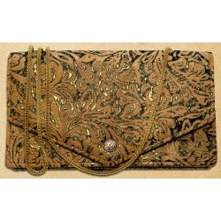 Kavatza Mary Jane Clutch Atlantia Tabak Handtasche