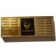 """Special Offer - GERMANUS """"Asculum"""" Cigar Humidor with metal inlays and Digital Hygrometer for ca 100 cigars"""