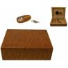 Zigarren Humidor Set mit Zubehör in schwarz mit weißer Applikation für ca. 50 Zigarren