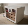GERMANUS Cigar Humidor Cabinet: Cube basic, White