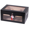 Humidor Chest with Windows on Side Black II