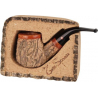 Tom Spanu Briar Pipe with Cork Lining, Bent
