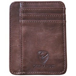 GERMANUS Ferruginus Credit Card Case - Made in EU - Leder Case for Cards