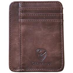 GERMANUS Ferruginus Kreditkartenetui - Made in EU - Leder Etui für Kreditkarten und Visitenkarten